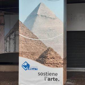 Vergati Ascensori - cartellonistica di sponsorizzazione mostra